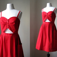 handmade summer cut out dress made to order by cristinapires