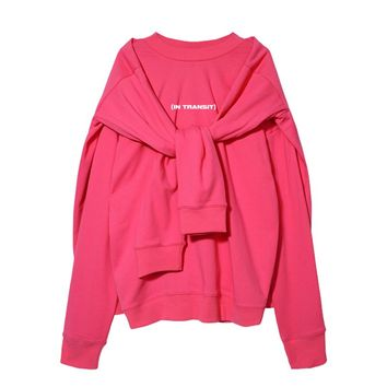 In Transit Double Pullover Sweatshirt | Neon Pink