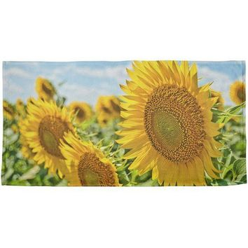 ESBGQ9 Sunflower Fields All Over Bath Towel