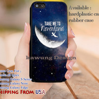 Take Me to Neverland Quote iPhone 6s 6 6s+ 5c 5s Cases Samsung Galaxy s5 s6 Edge+ NOTE 5 4 3 #cartoon #animated #disney #peterpan dl9