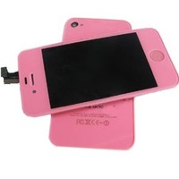 Tengfei Replacement LCD Touch Screen With Tools Kit for iPhone 4G Pink(For CDMA Verizon/Sprint iPhone 4 only) :LCD Screen+Touch Digitizer+Frame+Back Cover+Home Button