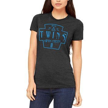 Twins Best Friends Forever Distressed Second Juniors Soft T Shirt