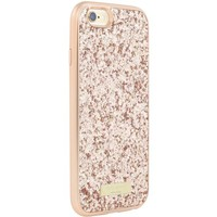 kate spade new york - Glitter Case with Bumper for Apple iPhone 6 and 6s - Rose Gold/Exposed Glitter Rose Gold