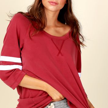 Jersey Life Striped Top Red