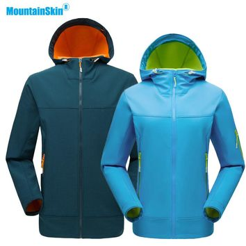 Mountainskin Men Women Autumn Softshell Fleece Jacket Outdoor Sports Thermal Windbreaker Hiking Camping Fishing Brand Coat MA211
