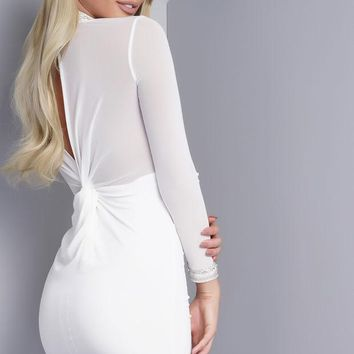 River Knotted Mesh Dress - White