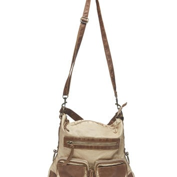 Distressed Crossbody Hobo Bag | Wet Seal