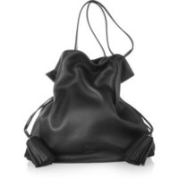 Loewe Flamenco 36 large textured-leather shoulder bag