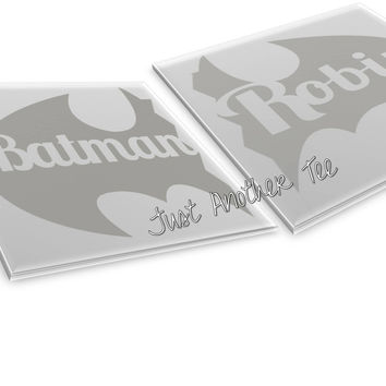 Batman And Robin Matching Set Of Papercut Templates