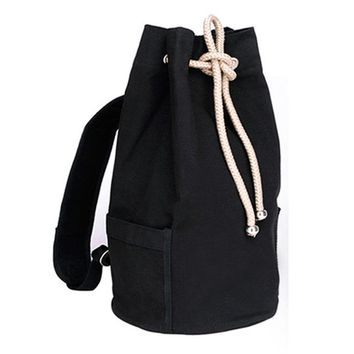 Sports gym bag Drawstring Canvas Bucket Bags Backpacks for Teenage Boys Men's Outdoors Sports Football Basketball Storage Cycling Bags XA1259A KO_5_1