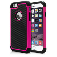"""iPhone 6 & 6S Case, Laxier(TM) Premium Ultra Thin Shock Proof Protective Cover Hard Shell Plastic Rubber Silicone Case For Apple iPhone6 / 6S 4.7 inch (4.7"""")(Pink)"""