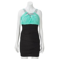 City Triangles Pleated Beaded Dress - Juniors
