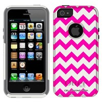 Otterbox Commuter Chevron Pink and White Case for iPhone 5