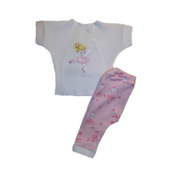 Baby Girls' Dancing Ballerina and Bears Pants Clothing Outfit