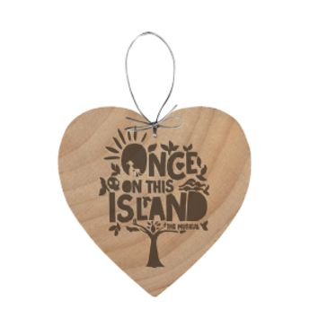 Once On This Island Wooden Ornament