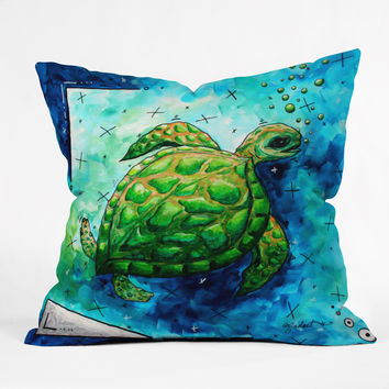 Madart Inc. Sea of Whimsy Sea Turtle Throw Pillow