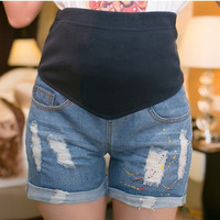 805 Maternity Pants Maternity Jeans Side Zipper Denim Pregnant Shorts for Pregnancy Women's Wear New Summer Plus Size M-2XL = 1946459588