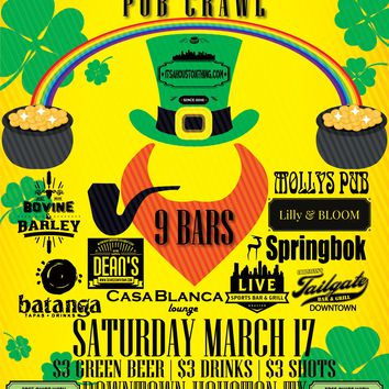 2nd Annual St. Patrick's Day Pub Crawl (March 17th)