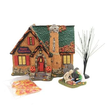 Department 56 House HAPPY HALLOWEEN HOUSE BOX SET Spooky Trick Treat 6004822