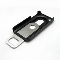 TOOGOO BLACK SILVER BEER BOTTLE OPENER SLIDE IN/OUT CASE COVER FOR APPLE iPHONE 4S 4 4G