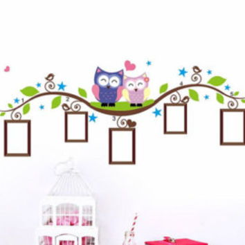 Cute, Photo, Animals, wall decals, stickers, kids room, owls, mural, poster