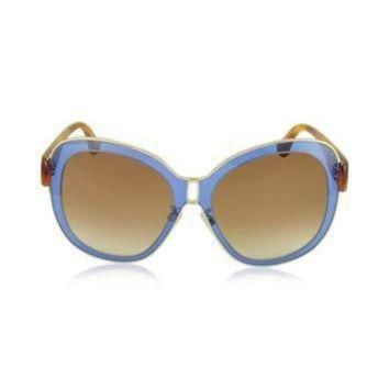 ONETOW balenciaga designer sunglasses ba0003 55b blue acetate gold metal women s sungl