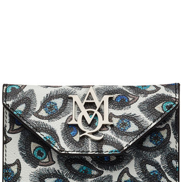 Alexander McQueen - Printed Leather Card Holder