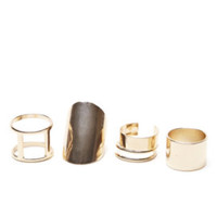 With Love From CA Multi Gold Ring Pack at PacSun.com