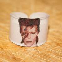 David Bowie Ring Choose Your Size by kaykreationsphoto on Etsy