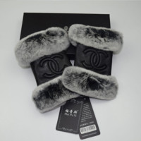 CHANEL MOBIER brand sheepskin gloves female winter warm fashion even refers to gloves