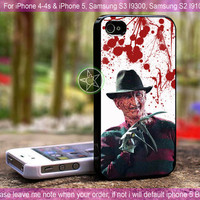 Freddy Krueger - iPhone 4 / iPhone 4S / iPhone 5 / Samsung S2 / Samsung S3 / Samsung S4 Case Cover