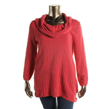 Style & Co. Womens Plus Knit Cowl Neck Pullover Sweater