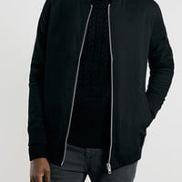 BLACK LONGLINE BOMBER - Men's Jackets & Coats - Clothing - TOPMAN USA