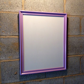 Vintage Framed Whiteboard - Dry Erase Board, Lilac, Purple, Wedding, Beach Decor, Girl's Room, Engagement, Classroom, School, College