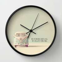 One Destination Wall Clock by Secretgardenphotography [Nicola]