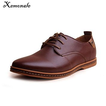 Xemonale Oxford Shoes Men Hot Sale New Fashion Men Leather Shoes Spring Autumn Men Casual Flat Patent Leather Plus men shoes