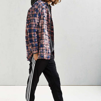 UO Bleached Out Drop Shoulder Flannel Button-Down Shirt - Urban Outfitters