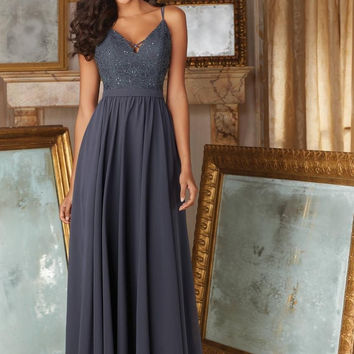 2017 New Lovely Looking V Neck Long With Sequin Accents on the Bodice and Straps Gray Bridesmaid Dresses