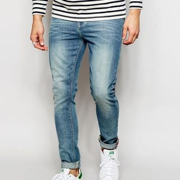 ASOS | ASOS Super Skinny Jeans In Light Wash at ASOS