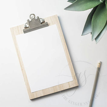 Styled Stock Photography | Neutral Clipboard on Desktop | Styled Desktop | Instagram Stock Photo | Digital Image
