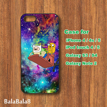 Adventure Time, galaxy, iPhone 4 case, iPhone 5 case, Blackberry Z10 ,Q10 case, iPod 4/ 5 case,  Samsung S3, samsung S4 case, Galaxy note 2