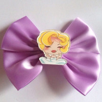 Pastel Purple Marilyn Monroe Hair Bow Hairbow Lilac Pinup Pin Up Rockabilly Iconic Chibi Kawaii Cute Kitsch Rock Sexy Actress