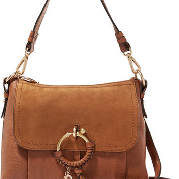 See by Chloé - Joan small suede-paneled leather shoulder bag
