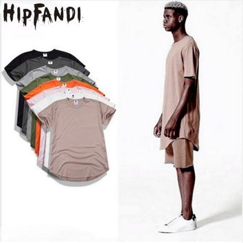 HIPFANDI 2017 Fashion Summer Style  Kanye West T-shirts Fear of god T-shirt season 3 Justin Bieber Crop Top Hip Hop Swag Tees