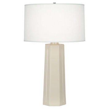 Isis Table Lamp (Multiple Colors) with Oyster Linen Shade design by Robert Abbey