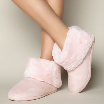 Fold Over Booties - Pink Mix | Boux Avenue
