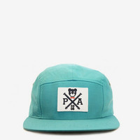Cross-Bear Five Panel Hat in Turquoise