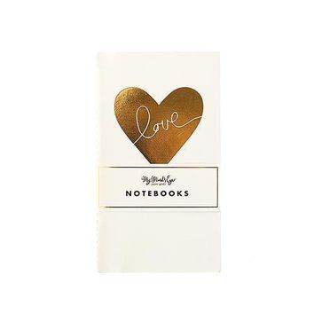 Gold Foil Print Mini Paper Notebooks (Pack of 1)