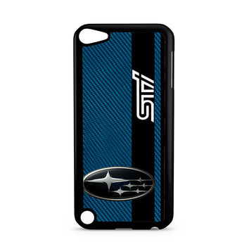 Subaru STI On A Field Of Simulated Blue iPod Touch 5 | 5th Gen case