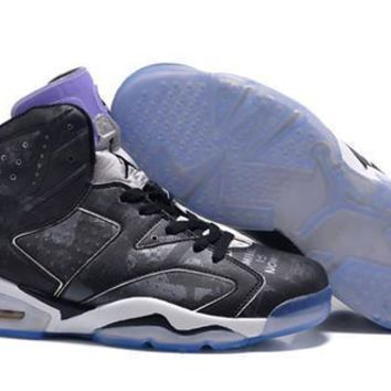 Cheap Nike Air Jordan 6 Retro Men Shoes Galaxy Black White Purple